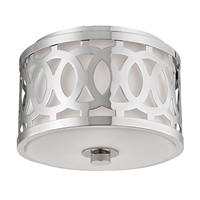 Picture for category Flush Mounts 1 Light With Polished Nickel Finished A19 Bulb Type 7 inch 60 Watts