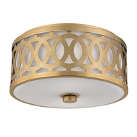 Picture for category Flush Mounts 2 Light With Aged Brass Tone Finish A19 Bulb Type 7 inch 120 Watts