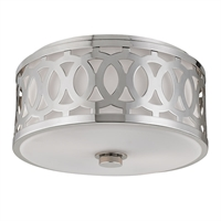 Picture for category Flush Mounts 2 Light With Polished Nickel Finish A19 Bulb Type 7 inch 120 Watts