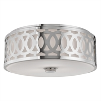 Picture for category Flush Mounts 3 Light With Polished Nickel Finish A19 Bulb Type 7 inch 180 Watts