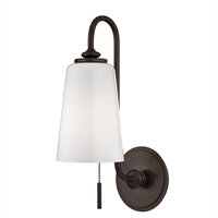 Picture for category Wall Sconces 1 Light With Old Bronze Tone Finished A19 Bulb Type 6 inch 75 Watts