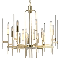 Picture for category Chandeliers 16 Light With Aged Brass Finished Candelabra Bulbs 29 inch 640 Watts