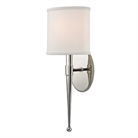 "Picture for category Polished Nickel Tone Finish Wall Sconces 7"" Wide Candelabra Bulb 1 Light Fixture"