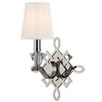 Picture for category Wall Sconces 1 Light With Polished Nickel Finish Candelabra Bulbs 10 inch 60 Watts