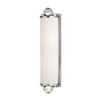 Picture for category Bathroom Vanity 2 Light With Polished Nickel Tone Finish A19 Medium Base Bulb 5 inch 0 Watt