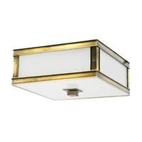 Picture for category Flush Mounts 1 Light With Aged Brass Tone Finish A19 Bulb Type 10 inch 60 Watts