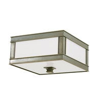Picture for category Flush Mounts 1 Light With Historic Nickel Finish A19 Bulb Type 10 inch 60 Watts