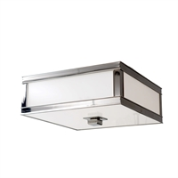 Picture for category Flush Mounts 1 Light With Polished Nickel Finish A19 Bulb Type 10 inch 60 Watts
