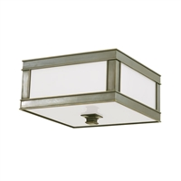 Picture for category Flush Mounts 3 Light With Historic Nickel Finish A19 Bulb Type 16 inch 180 Watts