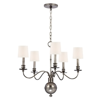 Picture for category Chandeliers 5 Light With Aged Silver Tone Finish Candelabra Base Bulbs 22 inch 0 Watt