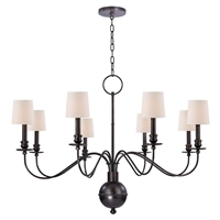 Picture for category Chandeliers 8 Light With Old Bronze Finished Candelabra Bulbs 28 inch 320 Watts