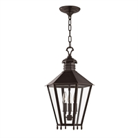 Picture for category Outdoor Pendant 3 Light With Old Bronze Finish Candelabra Bulbs 13 inch 180 Watts