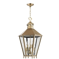 Picture for category Outdoor Pendant 6 Light With Aged Brass Finish Candelabra Bulbs 20 inch 360 Watts