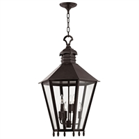 Picture for category Outdoor Pendant 6 Light With Old Bronze Finish Candelabra Bulbs 20 inch 360 Watts