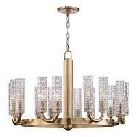 Picture for category Chandeliers 16 Light With Aged Brass Finished Candelabra Bulbs 21 inch 640 Watts