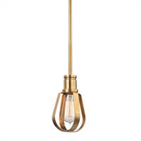 Picture for category Pendants 1 Light With Aged Brass Finished Medium Base Bulb Type 8 inch 60 Watts