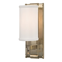 Picture for category Wall Sconces 1 Light With Aged Brass Finish Candelabra Base Bulbs 5 inch 60 Watts