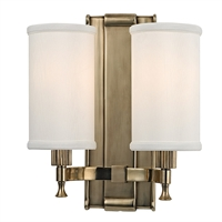 Picture for category Wall Sconces 2 Light With Aged Brass Finished Candelabra Bulbs 10 inch 120 Watts