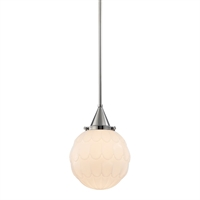 Picture for category Pendants 1 Light With Polished Nickel Finish Medium Base Bulbs 13 inch 75 Watts