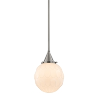 Picture for category Pendants 1 Light With Satin Nickel Finish Medium Base Bulb Type 9 inch 75 Watts