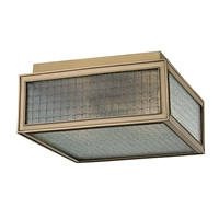 Picture for category Flush Mounts 2 Light With Aged Brass Tone Finish A19 Bulb Type 10 inch 120 Watts
