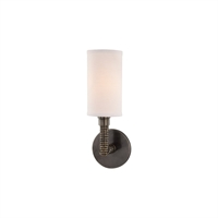 Picture for category Wall Sconces 1 Light With Distressed Bronze Finish E12 Bulb Type 5 inch 40 Watts
