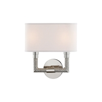 Picture for category Wall Sconces 2 Light With Polished Nickel Finish E12 Bulb Type 12 inch 80 Watts
