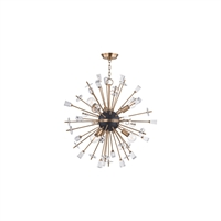 Picture for category Chandeliers 6 Light W/ Aged Brass Finish Metal Material E26 Bulbs 32 inch 360 W