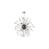 Picture for category Chandeliers 6 Light With Polished Nickel Finish E26 Bulb Type 32 inch 360 Watts