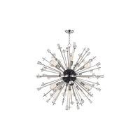 Picture for category Chandeliers 6 Light With Polished Nickel Finish E26 Bulb Type 46 inch 450 Watts