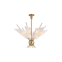 Picture for category Chandeliers 12 Light With Aged Brass Finish Metal and Glass G9 21 inch 36 Watts