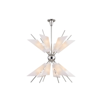 Picture for category Chandeliers 24 Light With Polished Nickel Finished G9 Bulb Type 31 inch 72 Watts