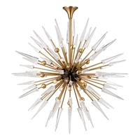 Picture for category Chandeliers 18 Light With Aged Brass Finished Candelabra Bulbs 48 inch 720 Watts