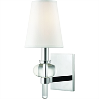 Picture for category Wall Sconces 1 Light With Polished Chrome Finished E12 Bulb Type 6 inch 60 Watts