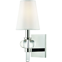Picture for category Wall Sconces 1 Light With Polished Nickel Finished E12 Bulb Type 6 inch 60 Watts