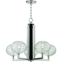 Picture for category Chandeliers 5 Light With Polished Nickel Finished LED Bulb Type 25 inch 15 Watts
