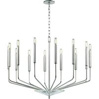 Picture for category Chandeliers 14 Light With Polished Nickel Finish E12 Bulb Type 25 inch 560 Watts