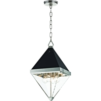 Picture for category Pendants 4 Light With Polished Nickel and Black Finish E12 Bulbs 10 inch 160 Watts