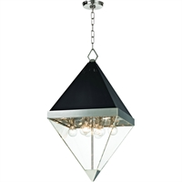 Picture for category Pendants 8 Light With Polished Nickel and Black Finish E12 Bulbs 15 inch 320 Watts