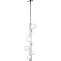 Picture for category Pendant 8 Light With Polished Nickel Finish Metal Marble Glass LED 11 inch 24 W