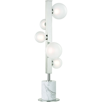 Picture for category Table Lamps 5 Light With Polished Nickel Finished LED Bulb Type 27 inch 15 Watts
