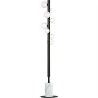 Picture for category Floor Lamps 8 Light With Old Bronze Finish Metal Marble Glass LED 64 inch 24 Watts