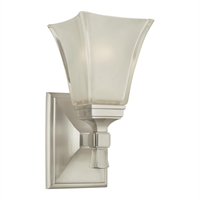 Picture for category Bathroom Vanity 1 Light With Satin Nickel Finish A19 Bulb Type 6 inch 100 Watts