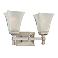 Picture for category Bathroom Vanity 2 Light With Polished Nickel Finish A19 Bulbs 15 inch 200 Watts