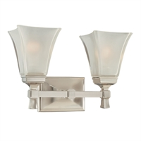 Picture for category Bathroom Vanity 2 Light With Satin Nickel Finish A19 Bulb Type 15 inch 200 Watts