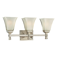 Picture for category Bathroom Vanity 3 Light With Satin Nickel Finish A19 Bulb Type 23 inch 300 Watts