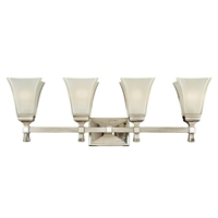 Picture for category Bathroom Vanity 4 Light With Polished Nickel Finish A19 Bulbs 31 inch 400 Watts