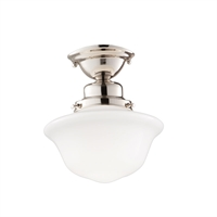 Picture for category Semi Flush 1 Light With Polished Nickel Finished A19 Bulb Type 10 inch 75 Watts