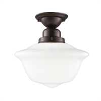 Picture for category Semi Flush Mounts 1 Light With Old Bronze Finish A19 Bulb Type 12 inch 100 Watts