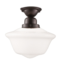 Picture for category Semi Flush Mounts 1 Light With Old Bronze Finish A19 Bulb Type 15 inch 100 Watts
